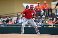 Washington Nationals Matt Skole (63) during a Spring Training game against the Detroit Tigers on March 22, 2015 at Joker Marchant Stadium in Lakeland, Florida.  The game ended in a 7-7 tie.  (Mike Janes/Four Seam Images)