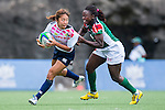 Japan vs Kenya during the Day 1 of the IRB Women's Sevens Qualifier 2014 at the Skek Kip Mei Stadium on September 12, 2014 in Hong Kong, China. Photo by Aitor Alcalde / Power Sport Images