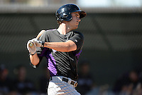 Colorado Rockies outfielder Tim Wheeler (27) during an instructional league game against the Los Angels Angels of Anaheim on September 30, 2013 at Tempe Diablo Stadium Complex in Tempe, Arizona.  (Mike Janes/Four Seam Images)