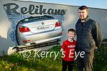 The Relihan family in Relihan's Car Dismantling and Breakers yard. L to r: Tom Jnr with his dad Tom Relihan