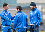 St Johnstone Training…14.04.17<br />Clive Smith, Danny Swanson and Murray Davidson pictured during training at McDiarmid Park this morning ahead of tomorrow's game against Aberdeen.<br />Picture by Graeme Hart.<br />Copyright Perthshire Picture Agency<br />Tel: 01738 623350  Mobile: 07990 594431