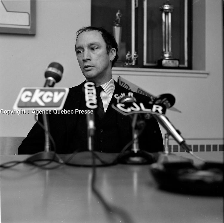ARCHIVE - <br /> Le chef du PLC Pierre Trudeau en visite a Quebec, mars 1968, avant l'election du 25 juin<br /> (date excate inconnue)<br /> <br /> PHOTO :  AQP -  Photo Moderne