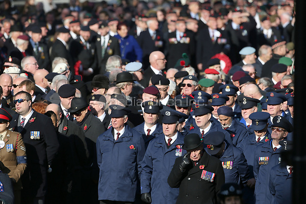 ***NO UK*** REF: MTX 193994 - Veterans attend the annual Remembrance Sunday memorial at The Cenotaph in London, England.  NOVEMBER 10th 2019. Credit: Trevor Adams/Matrix/MediaPunch