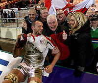 Friday 7th December 2012;  Dan Tuohy with his family after the Pool 4 round 3 Heineken Cup clash at Franklin's Gardens, Northampton, England. Image credit -: JOHN DICKSON / DICKSONDIGITAL