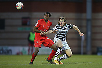 Tunji Akinola of Leyton Orient and Josh Davison of Forest Green Rovers during Leyton Orient vs Forest Green Rovers, Sky Bet EFL League 2 Football at The Breyer Group Stadium on 23rd January 2021