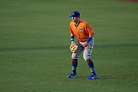 St. Lucie Mets right fielder Quinn Brodey (12) during a game against the Clearwater Threshers on August 11, 2018 at Spectrum Field in Clearwater, Florida.  St. Lucie defeated Clearwater 11-0.  (Mike Janes/Four Seam Images)