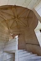 Europe/France/Aquitaine/24/Dordogne/ Villars: Château de Puyguilhem - Le grand escalier