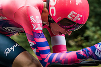 Jens Keukeleire (BEL/EF) on the steep parts of the individual time trial up the infamous Planche des Belles Filles<br /> <br /> Stage 20 (ITT) from Lure to La Planche des Belles Filles (36.2km)<br /> <br /> 107th Tour de France 2020 (2.UWT)<br /> (the 'postponed edition' held in september)<br /> <br /> ©kramon