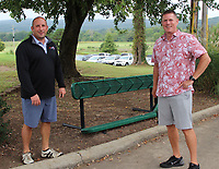 Michael Miner (left) and Joe Storlie attend Golf with the Finest. <br />