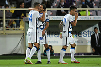 21th September 2021; Stadio Artemio Franchi, Firenze, Italy; Italian Serie A football, AC Fiorentina versus  FC Inter; Matteo Darmian of Inter celebrates after scoring his equalising goal for 1-1 in minute 52