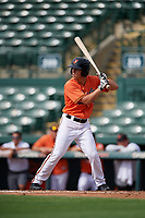 Baltimore Orioles center fielder TJ Nichting (71) at bat during a Florida Instructional League game against the Pittsburgh Pirates on September 22, 2018 at Ed Smith Stadium in Sarasota, Florida.  (Mike Janes/Four Seam Images)
