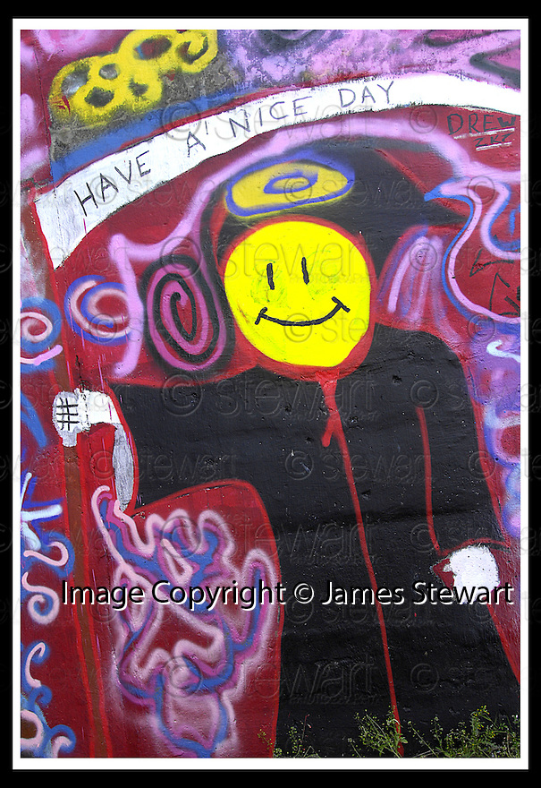 29/08/2007       Copyright Pic: James Stewart.File Name : 10_underpass.THE UNDERPASS IN MADDISTON PAINTED BY LOCALS....James Stewart Photo Agency 19 Carronlea Drive, Falkirk. FK2 8DN      Vat Reg No. 607 6932 25.Office     : +44 (0)1324 570906     .Mobile   : +44 (0)7721 416997.Fax         : +44 (0)1324 570906.E-mail  :  jim@jspa.co.uk.If you require further information then contact Jim Stewart on any of the numbers above........