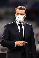 Attitude de Emmanuel Macron ( president de la Republique ) <br /> Paris 24/07/2020 Stade de France <br /> Calcio Finale Coppa di Francia <br /> Paris Saint Germain vs Saint Etienne <br /> Photo Federico Pestellini/Panoramic/insidefoto <br /> ITALY ONLY