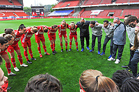 team Standard pictured before a female soccer game between Standard Femina de Liege and AA Gent Ladies on the 6th matchday in play off 1 of the 2020 - 2021 season of Belgian Scooore Womens Super League , tuesday 11 th of May 2021  in Liege , Belgium . PHOTO SPORTPIX.BE   SPP   STIJN AUDOOREN