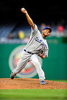 24 April 2010: Los Angeles Dodgers' relief pitcher Carlos Monasterios on the mound against the Washington Nationals at Nationals Park in Washington, DC. The Dodgers edged out the Nationals 4-3. Mandatory Credit: Ed Wolfstein Photo
