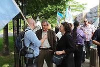 Manifestation des employés de la Santé - CSN<br /> , le 10 Avril  2014<br /> <br /> PHOTO : Agence Québec Presse