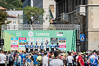 Team Israel-Start Up Nation at the start in Bergamo<br /> <br /> 114th Il Lombardia 2020 (1.UWT)<br /> 1 day race from Bergamo to Como (ITA/231km) <br /> <br /> ©kramon