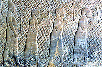 Assyria:  Captive Musicians.  Biblical History in Assyrian Sculpture.  Trustees of the British Museum 1986.