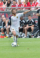 29 June 2013: Real Salt Lake midfielder Kyle Beckerman #5 in action during an MLS game between Real Salt Lake and Toronto FC at BMO Field in Toronto, Ontario Canada.<br /> Real Salt Lake won 1-0.