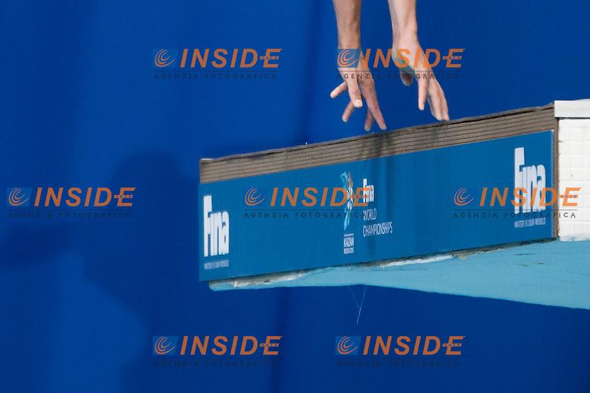 A diver<br /> Diving - Men's 10m Platform final<br /> Day 10 02/08/2015<br /> XVI FINA World Championships Aquatics Swimming<br /> Kazan Tatarstan RUS July 24 - Aug. 9 2015 <br /> Photo Giorgio Perottino/Deepbluemedia/Insidefoto