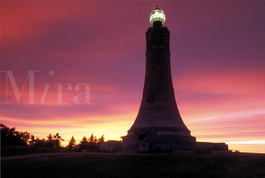 lighthouse, Mt, Greylock, North Adams, MA, Massachusetts, War Veterans Memorial Tower at sunrise on the summit of Mount Greylock at Mount Greylock State Reservation.