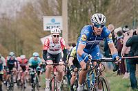 Philippe GILBERT (BEL/Deceuninck-Quick Step) up the Molenberg<br /> <br /> 74th Omloop Het Nieuwsblad 2019 <br /> Gent to Ninove (BEL): 200km<br /> <br /> ©kramon