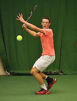 01-12-13,Netherlands, Almere,  National Tennis Center, Tennis, Winter Youth Circuit, Patric Speelman  <br /> Photo: Henk Koster