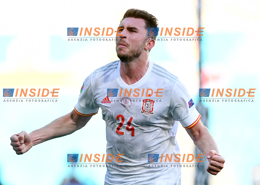 SEVILLE, SPAIN - JUNE 23: Aymeric Laporte of Spain celebrates after scoring their side's second goal during the UEFA Euro 2020 Championship Group E match between Slovakia and Spain at Estadio La Cartuja on June 23, 2021 in Seville, Spain. (Photo by Aitor Alcalde - UEFA/UEFA via Getty Images)<br /> Photo Uefa/Insidefoto ITA ONLY