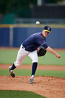 Lake County Captains starting pitcher Micah Miniard (32) delivers a pitch during the second game of a doubleheader against the West Michigan Whitecaps on August 6, 2017 at Classic Park in Eastlake, Ohio.  West Michigan defeated Lake County 9-0.  (Mike Janes/Four Seam Images)