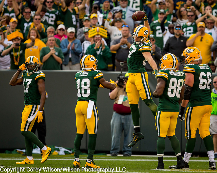 Green Bay Packers vs. Seattle Seahawks at Lambeau Field in Green Bay, Wis., on September 10, 2017.