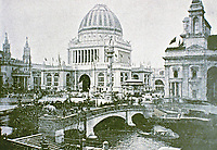 The Administration Building for the Columbian Exposition 1893. Gilded dome and magnificent sculpture.