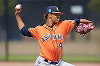 Houston Astros pitcher Bryan Abreu (84) during a Minor League Spring Training Intrasquad game on March 28, 2018 at FITTEAM Ballpark of the Palm Beaches in West Palm Beach, Florida.  (Mike Janes/Four Seam Images)