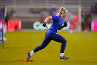 HOUSTON, TX - JANUARY 28: Julie Ertz #8 of the United States warming up during a game between Haiti and USWNT at BBVA Stadium on January 28, 2020 in Houston, Texas.