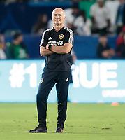 CARSON, CA - SEPTEMBER 21: Dominic Kinnear of the Los Angeles Galaxy during a game between Montreal Impact and Los Angeles Galaxy at Dignity Health Sports Park on September 21, 2019 in Carson, California.