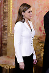 Queen Letizia of Spain attends the Foreign Ambassadors Reception at The Royal Palace. January 31,2018. (ALTERPHOTOS/Pool)