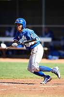 Kansas City Royals minor league infielder Adalberto Mondesi #22 during an instructional league game against the Seattle Mariners at the Peoria Sports Complex on October 2, 2012 in Peoria, Arizona. (Mike Janes/Four Seam Images)