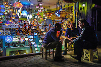 Fine Art Photograph. The colourful Mosaic lamps in Istanbul, Turkey. <br />