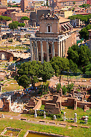 The temple of Antonius and Faustina. The Forum Rome ; The Forum Rome