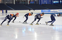 SPEED SKATING: Heerenveen: 09-07-2019, IJsstadion Thialf, training Ice-derby, long track and short track speed skating, ©photo Martin de Jong