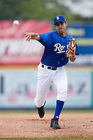 Burlington starting pitcher David Bernat (46) in action versus Kingsport at Burlington Athletic Park in Burlington, NC, Monday, July 30, 2007.
