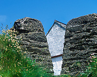 Rustic, stone gate to an Irish farmhouse, Conty Donegal, Ireland
