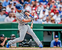 20 May 2018: Los Angeles Dodgers infielder Logan Forsythe in action against the Washington Nationals at Nationals Park in Washington, DC. The Dodgers defeated the Nationals 7-2, sweeping their 3-game series. Mandatory Credit: Ed Wolfstein Photo *** RAW (NEF) Image File Available ***