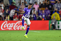 Orlando, FL - Wednesday July 31, 2019:  Mark-Anthony Kaye #15 during an Major League Soccer (MLS) All-Star match between the MLS All-Stars and Atletico Madrid at Exploria Stadium.