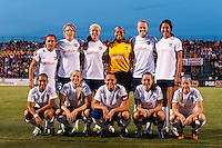 Sky Blue FC starting eleven. The Western New York Flash defeated Sky Blue FC 2-0 during a National Women's Soccer League (NWSL) semifinal match at Sahlen's Stadium in Rochester, NY, on August 24, 2013.