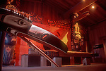 Victoria, Royal British Columbia Museum, Totems, Longhouse, First Nations, British Columbia, Canada,