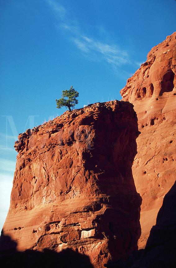 Butte, Red Rocks, Jemez Pueblo, New Mexico