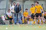 Mannheim, Germany, October 25: During the 1. Bundesliga men fieldhockey match between Mannheimer HC (red) and Harvestehuder THC (yellow) on October 25, 2020 at Am Neckarkanal in Mannheim, Germany. Final score 6-4 (HT 2-3). (Copyright Dirk Markgraf / www.265-images.com) *** head coach Christoph Bechmann of Harvestehuder THC