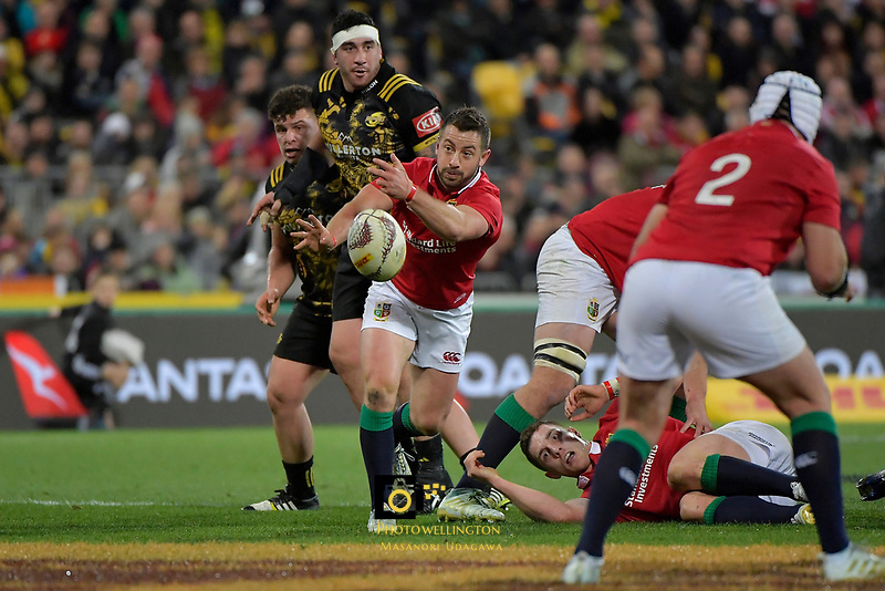 Lions' Greig Laidlaw in action during the New Zealand Lions Series - Hurricanes v British and Irish Lions at Westpac Stadium, Wellington, New Zealand on Tuesday 27 June 2017.<br /> Photo by Masanori Udagawa<br /> www.photowellington.photoshelter.com.