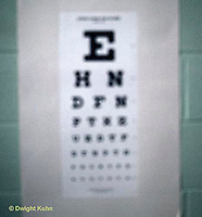 SN07-002z  Eye chart as seen by someone with vision problems - see SN07-001z
