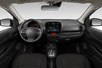 Stock photo of straight dashboard view of 2021 Mitsubishi Mirage ES 5 Door Hatchback Dashboard